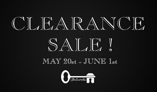 clearance sale secret store